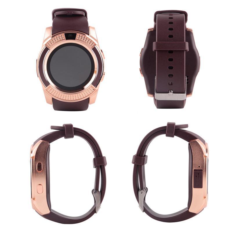 V8 montre intelligente Bluetooth montres Android avec appareil photo 0.3M MTK6261D DZ09 GT08 Smartwatch pour téléphone Android avec emballage détail