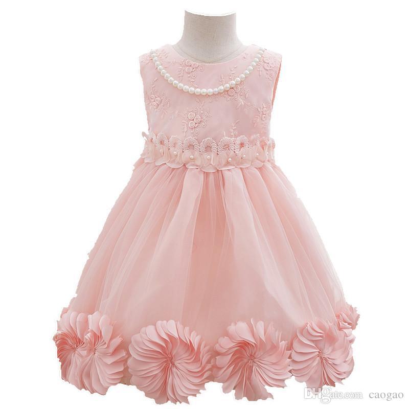 Compre Niña Princesa Vestido Flor De Verano Niños Fiesta Vestidos De ...