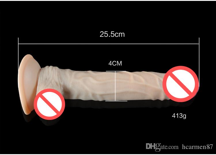 Dildo Realistic Huge Penis Sex Toys for Woman Silicone Real Dick25.5*4cm,Big Dildo Suction Dildo ,Adult Toy Sex Products