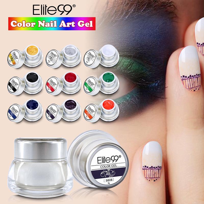 Wholesale Elite99 2016 Nail Art Uv Led Soak Off Paint Gel Ink Uv Gel ...