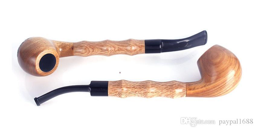 Beautiful Gift Box Long Pole Bamboo Green Long Tan Pipe Detachable Flat Straight Pipe Tobacco Rod
