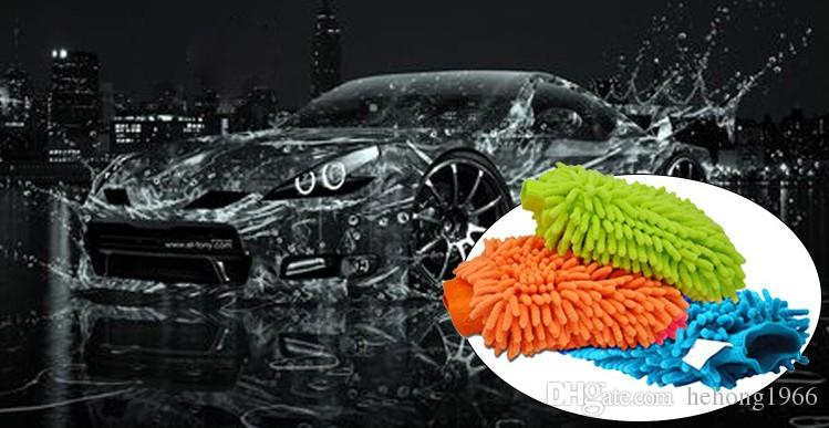 2zk Snow Neil Fiber High Density Cleaning Gloves Scrub Car Double Sided Wash Mitt Dust Removal Microfiber Cleanings Glove Towel Colorful R