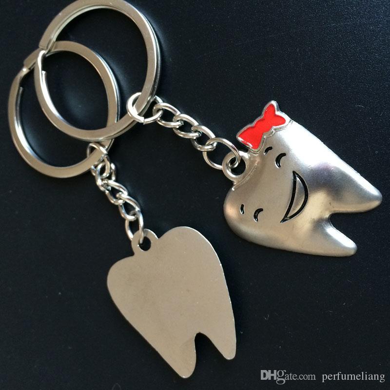 Creativo in lega di zinco a forma di dente divertente portachiavi portachiavi gli amanti regalo di souvenir del partito SPEDIZIONE GRATUITA ZA3814