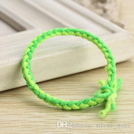 High quality Hit the color weaving braids hair rope high elastic personality tied knot hair circle FQ043 a