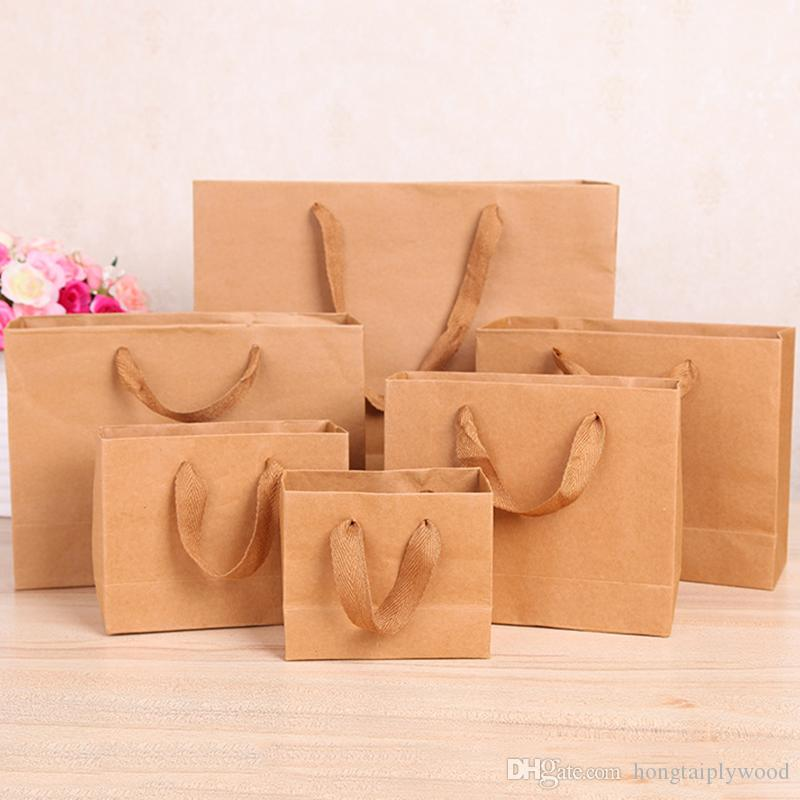2018 Kraft Paper Gift Bag With Handle Practical Diy Bag For Gift Shopping  Package Bags Packing Handbags Foldable Storage Pouch From Hongtaiplywood,  ...