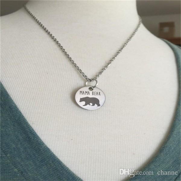 1111 Hot Sale New Fashion Mama Bear Necklace Mom Gift Mothers Day Birthday Jewelry Animal Online