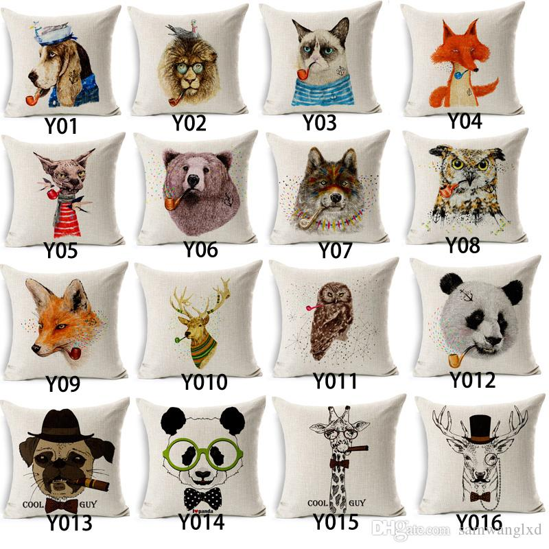 150 Types Wholesales Hot Sale Cartoon Animal Dressed Cushion Covers Dog Pet 45X45cm Soft Pillow Cases For Kids Baby Girl Boy Bedroom Decor