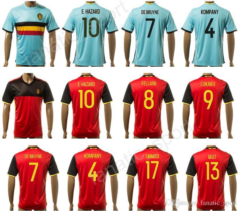 quality design 7b091 86508 womens belgium 10 eden hazard red home 2016 2017 country ...