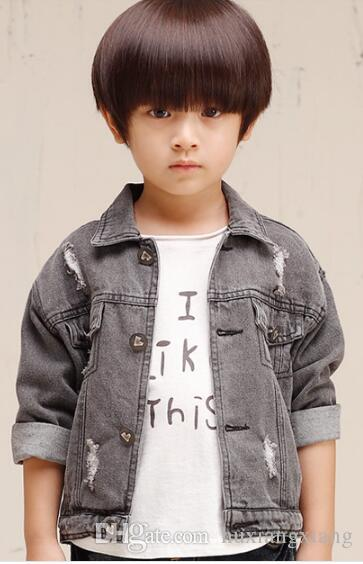 Kid's denim fabric fashion style jacket W17JS049
