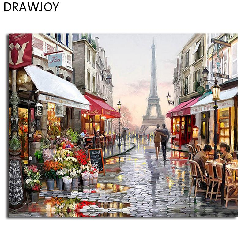 frame picture DRAWJOY Framed Pictures DIY Painting By Numbers Wall Art Acrylic Paintings Handpainted Home Decor For Living Room