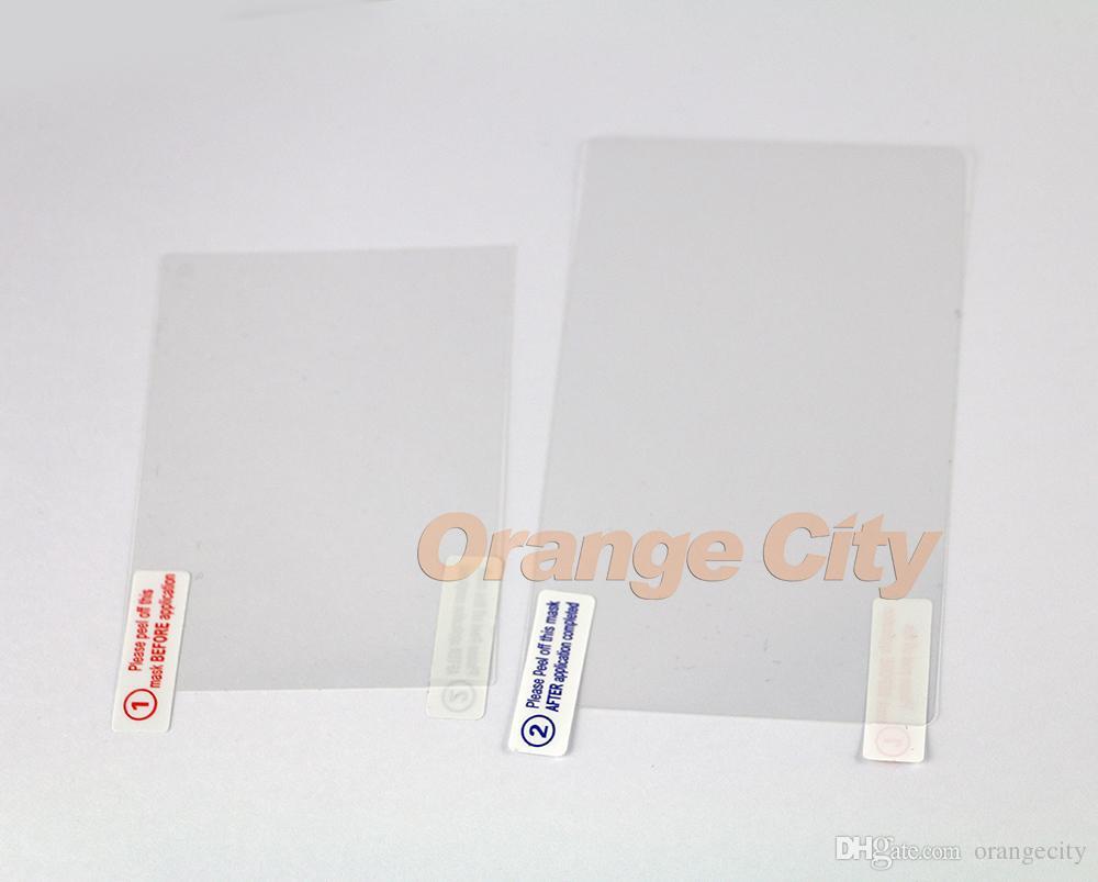 2in1 Üst Alt HD Temizle Koruyucu Film Yüzey Guard Kapak için YENI 3DSXL 3DSLL 3DS XL LL LCD Ekran Koruyucu Cilt