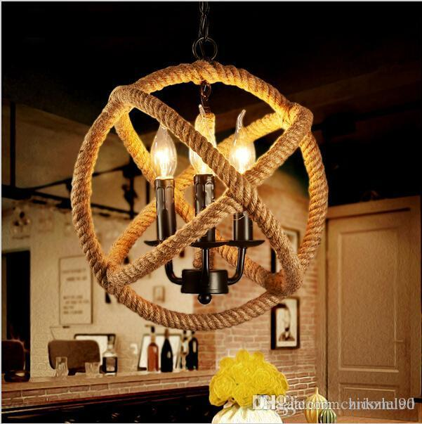 Led Retro Rope Pendant Lights Edison Lighting Fixtures Lustre - Retro kitchen ceiling light fixtures