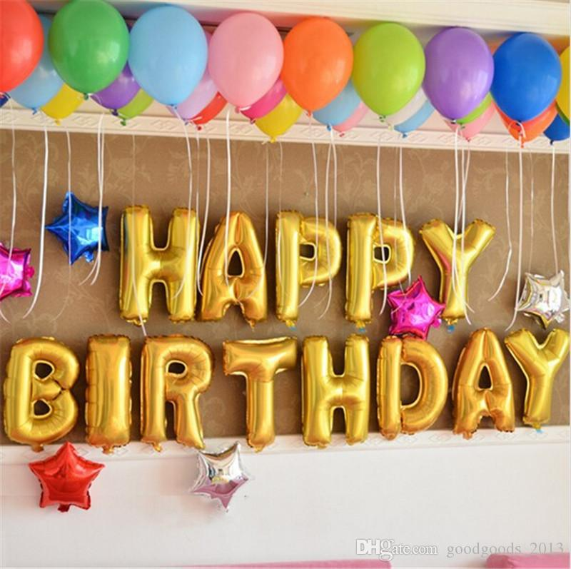 16 happy birthday alphabet foil balloon letter balloons diy 16 happy birthday alphabet foil balloon letter balloons diy balloons happy birthday party wedding decoration balloons b1082 letter balloon birthday junglespirit Images