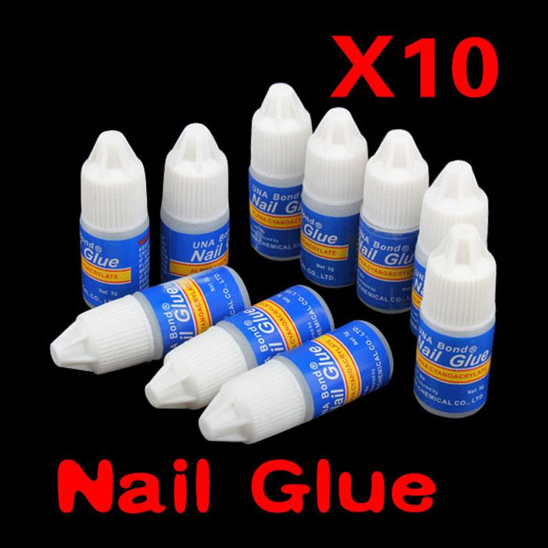 10pcs 3g Nail Gel Polish Glue False Nail Art Decoration Tips Fast Drying Acrylic Glue Manicure Tool Nail Gel