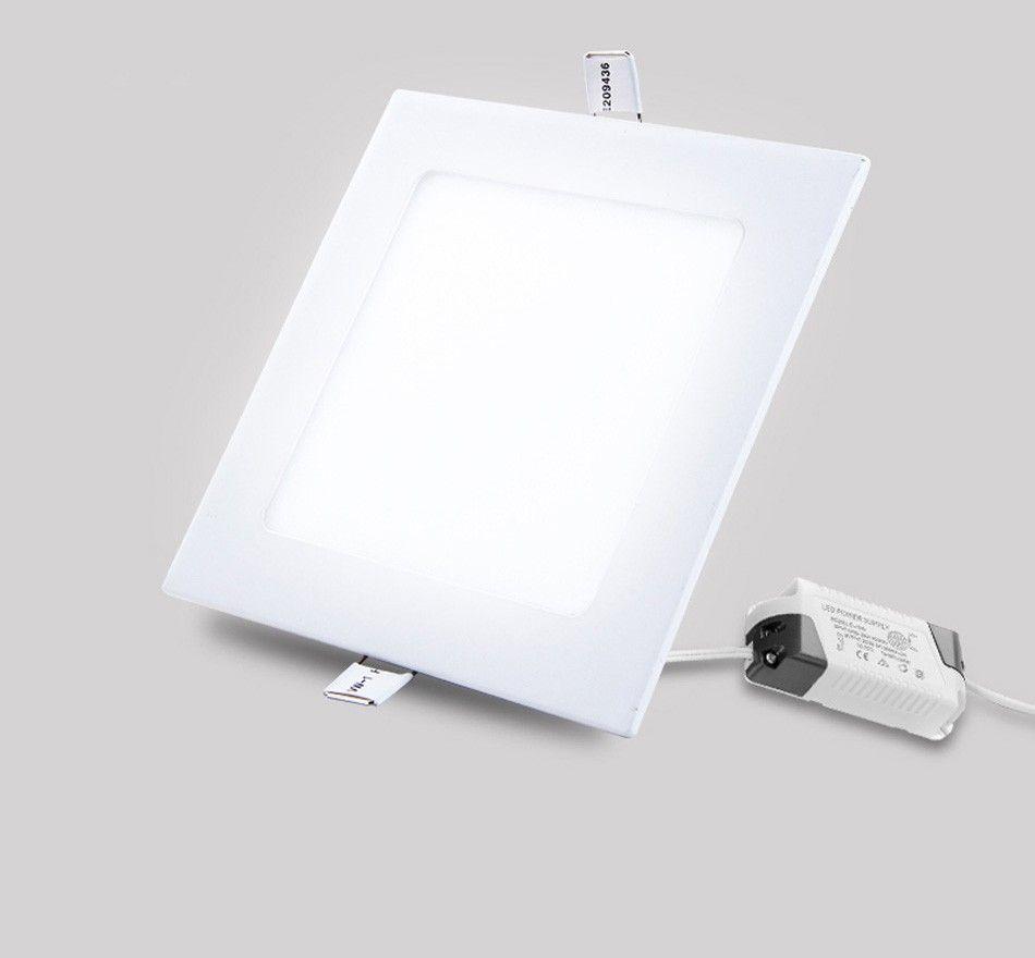 Ultra-mince 3W 6W 9W 12W 15W 18W 24W LED Panneau de lumière Carré Encastré Plafond Downlight Lampe pour Home Luminaires Salle De Bains