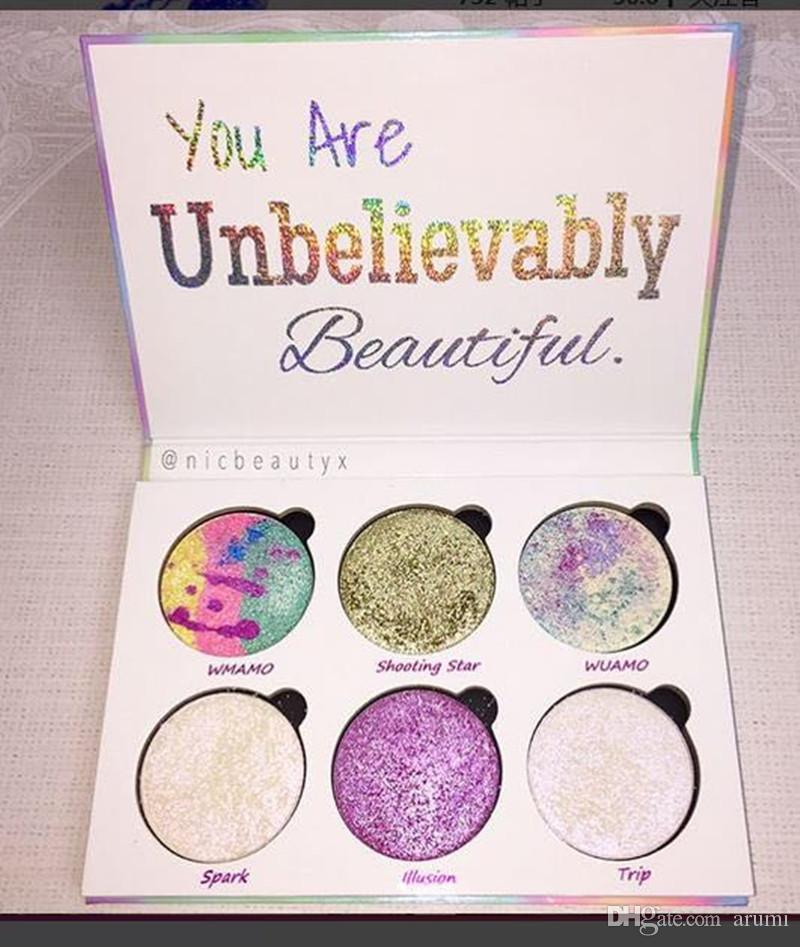 Love Luxe Beauty Fantasy Trucco palette Sei incredibilmente bello evidenziatore i ombretto vendita calda dhl