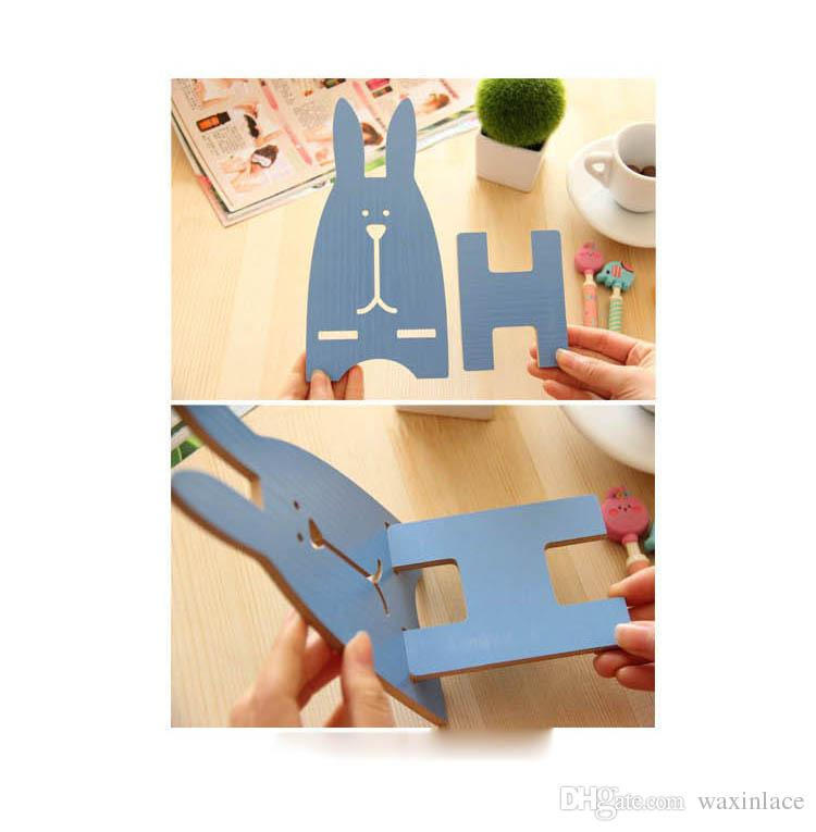 DIY wooden phone holder With Cartoon Rabbit lazy phone holder for Iphone Samsung HTC HUAWEI ipod cell phone