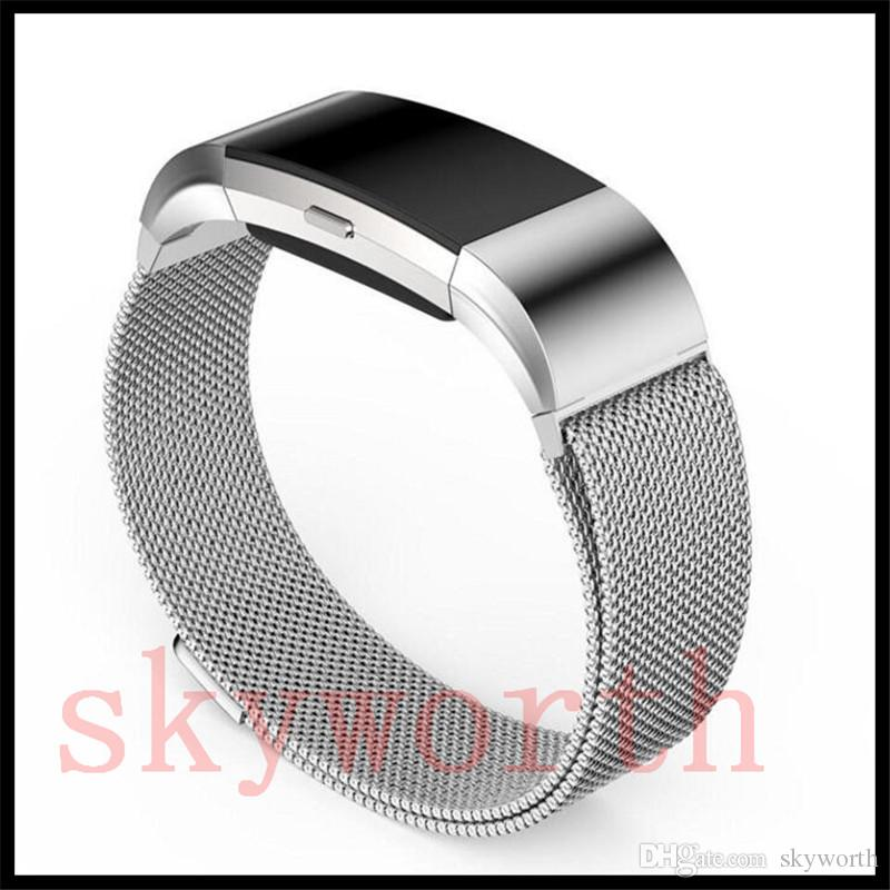 Magnetic Milanese Loop Metal For Fitbit Charge 2 Alta HR Blaze Wristband  Stainless Steel Watch Band Bracelet Mesh Strap Replacement Silver