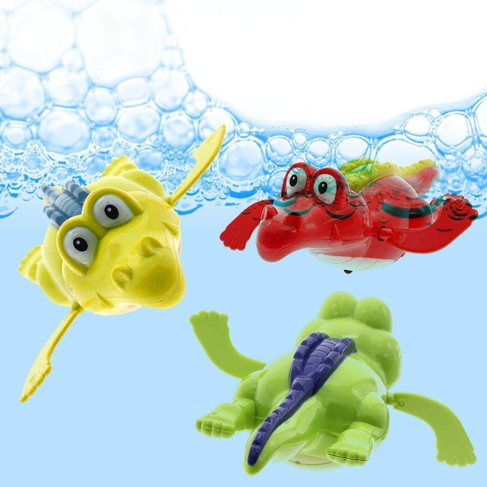 Cute Turtle/Crocodile/Shark Swim Animal Wound-up Chain Clockwork Baby Kid Bathing Toy For Bathroom Gift