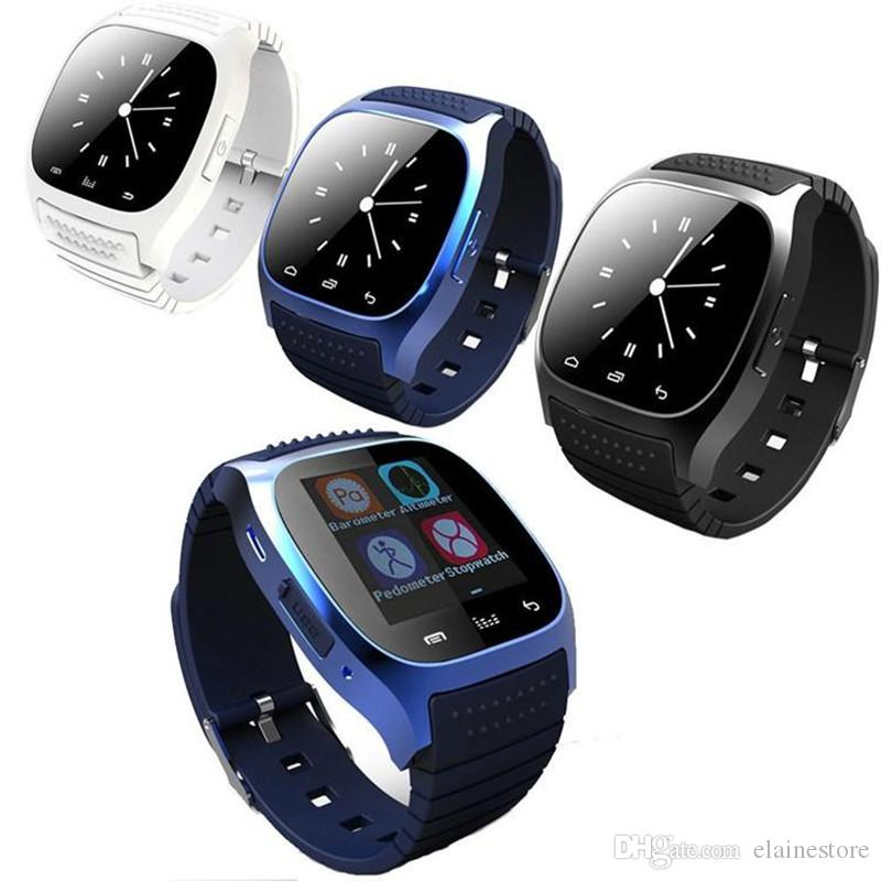 Sport Bluetooth Smartwatch M26 Bluetooth Smart Watch With LED Alitmeter Music Player Pedometer For I phone Andriod Smart Phone Free DHL