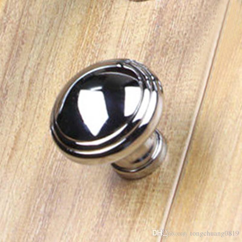 96mm 128mm 160mm moderne einfache solide glänzend silber Küchenschrank Kleiderschrank Türgriffe hellen Chrom Kommode Schublade Knöpfe zieht