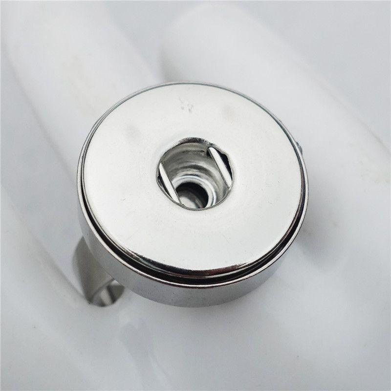 Noosa 덩어리 스테인레스 스틸 18mm 스냅 버튼 반지 크기 7-10 반지 버튼 생강 스냅 매력 보석에 대한
