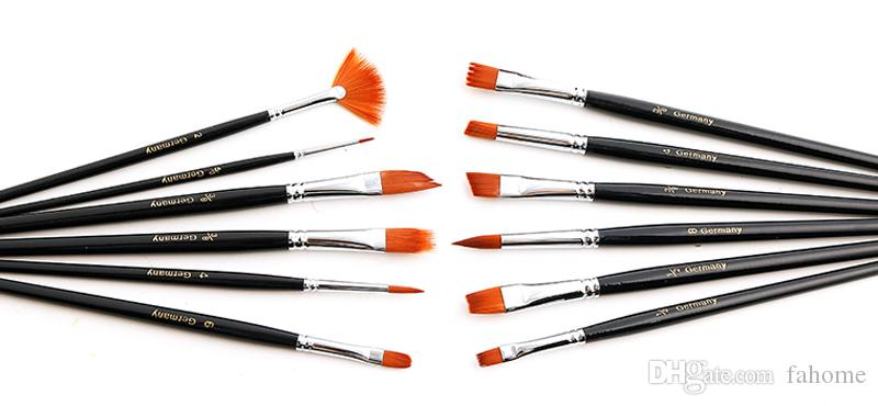 Paint Brushes - Watercolor Gouache Acrylic Art Craft Artist Oil Painting Drawing Paint Brush Art Supplie