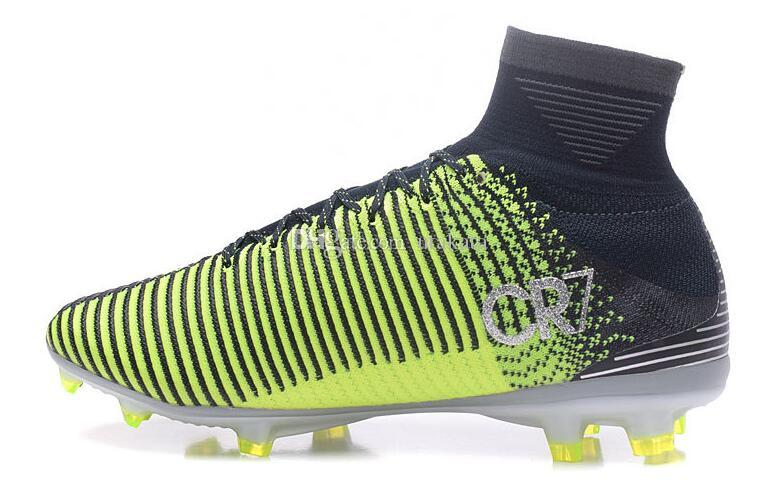 Mercurial Superfly V FG chaussures de foot, escompte CR7 Vitórias entraînement running crampons de football, 2017 nouveaux hommes chaussures de football