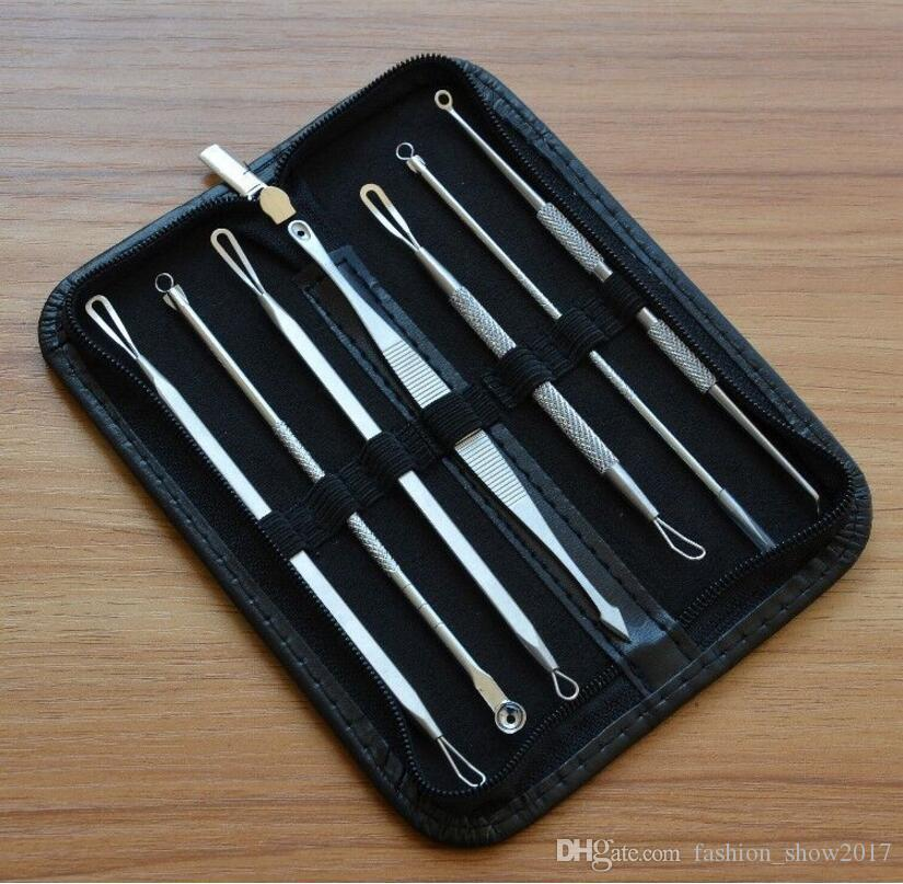 Blackhead Remover Tool Kit Facial Pimple Removal Tools Blemish Extractor Acne Needle Clip Tweezer Set Face Skin Care Tools