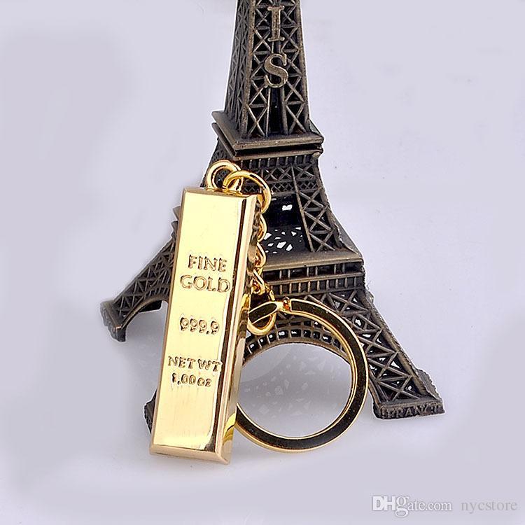 DHL GRÁTIS Pure chaveiro ouro fino ouro porta-chaves chaveiros bolsa mulheres encantos pingente de chave de metal porta-chaves homem localizador de luxo carro acessórios