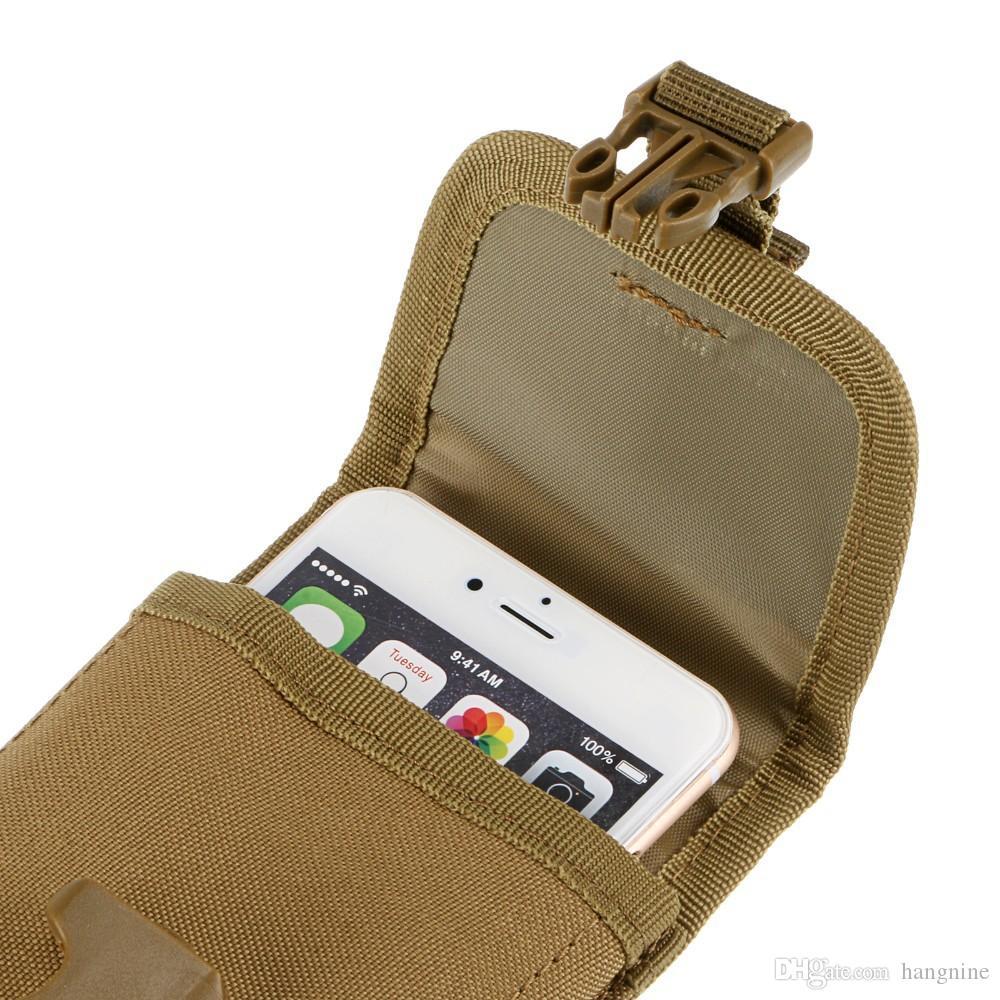 Al aire libre de 5.5 pulgadas táctico multifunción resistente al desgaste del teléfono móvil paquete de accesorios al por mayor al aire libre teléfono móvil bolsa de teléfono móvil