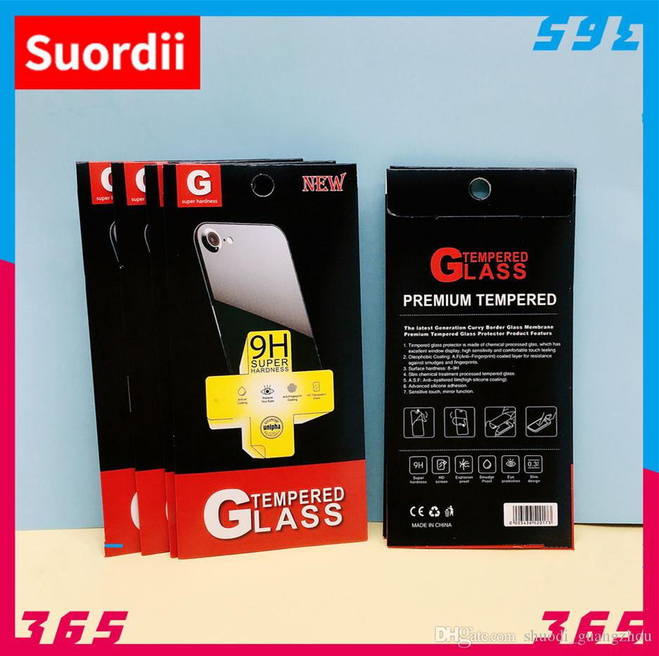 High Quality Packing Boxes For iphone 8 8 plus 7 7 plus Mobile Phone Tempered Glass Screen Package Box Retail Paper Packaging Box