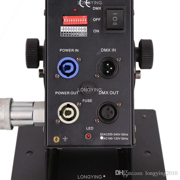 شحن مجاني 2 قطعة / الوحدة 200 واط تعديل زاوية آلة co2 جيت ، مع 6 متر خرطوم ، dmx co2 آلة المرحلة تأثير آلة آلة آلة الدخان
