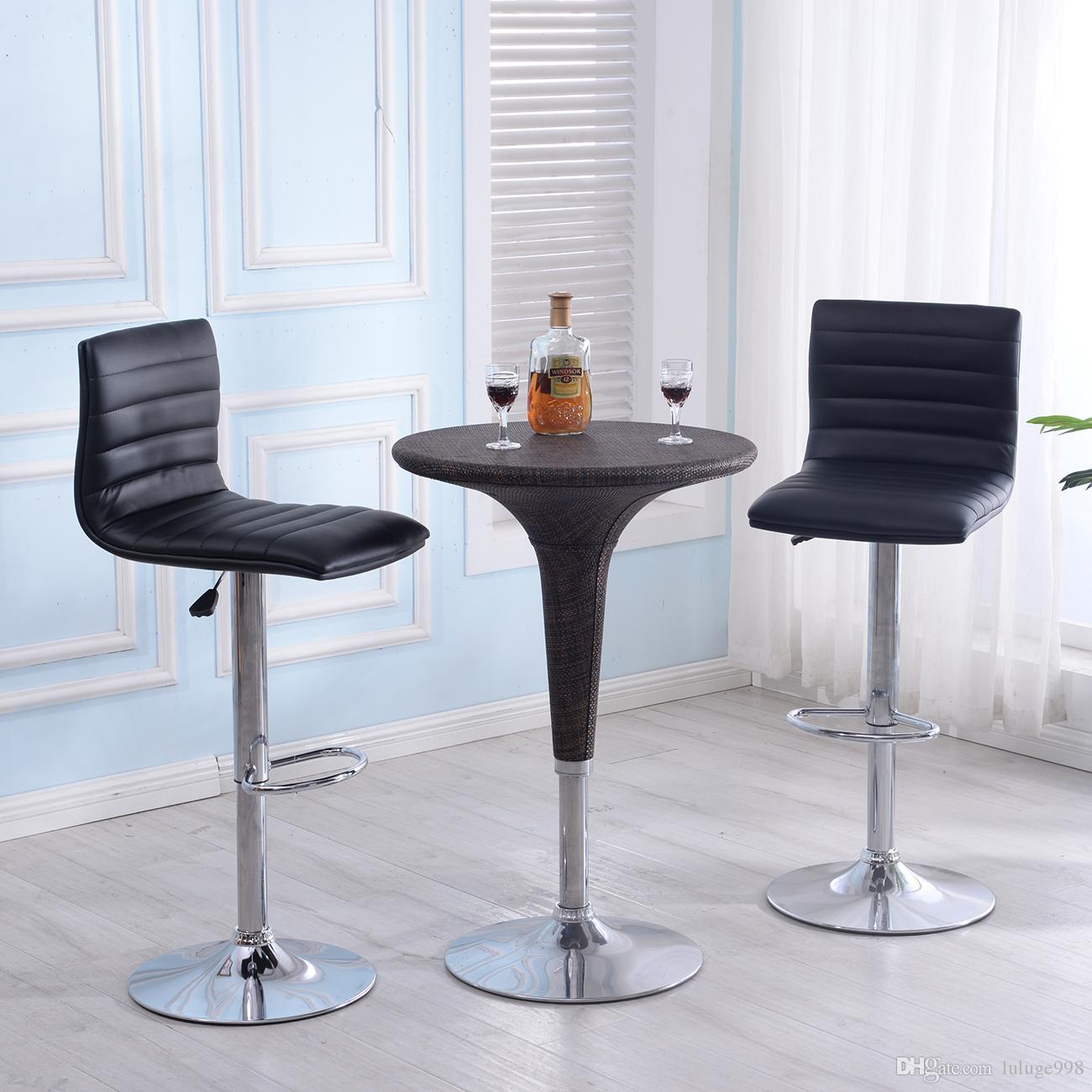Acheter Ensemble Moderne De 2 Chaises Bar Pivotantes En Cuir Reglables Multicolores 4825 Du Luluge998
