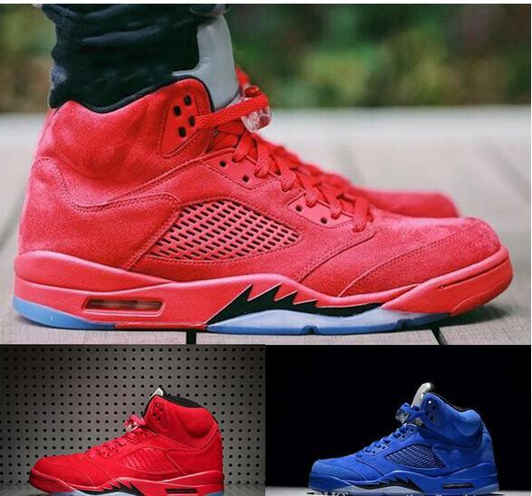 2018 New Cheap Air Retro 5 V Raging Bull Red Suede Blue Reflective Men  Basketball Shoes Sports Sneakers Top Quality Wholesale Size 7 13 Online Shoe  Shopping ...