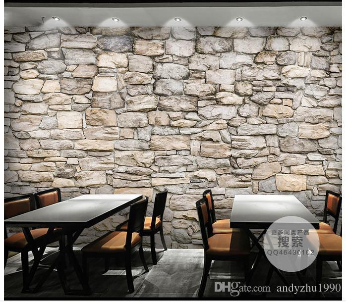 3D Fototapete benutzerdefinierte 3D Wand Wandbilder Naturstein Kultur Stein Hintergrund Wand 3D Wohnzimmer Wanddekoration