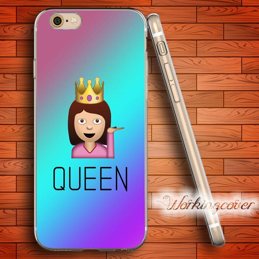 Fundas Drama Queen Emoji Soft Clear TPU Case for iPhone 7 6 6S Plus 5S SE 5  5C 4S 4 Case Silicone Cover