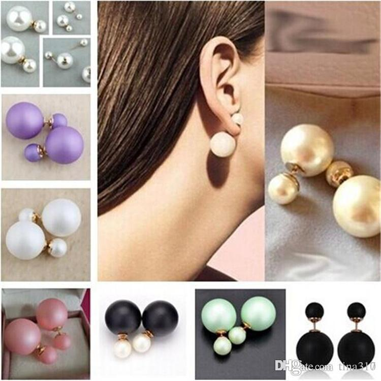 2018 Runway Colorful Cultured Pearl Earrings Jewellery ...