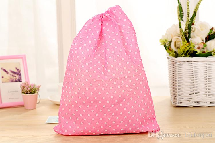 Shoe Drawstring Travel clothes makeup Storage Shoe Dust-proof Tote Dust Bag Storage bags non-woven fabrics 14.37x10.82 inch