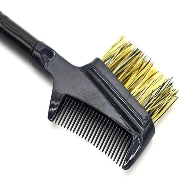 Vente en gros- Nouvelle arrivée acier sourcils cils Dual-Comb extension brosse en métal peigne cosmétique maquillage outil livraison gratuite