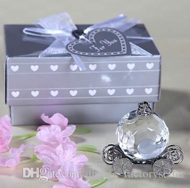 DHL Crystal Pumpkin Coach Favors Crystal Carriage baby shower bautismo boda favores regalos del partido