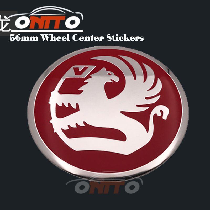 Best selling 60mm 56mm Car Wheel Center Emblem Cover Chrome Base Aluminum Auto Vauxhall Wheel logo Cap