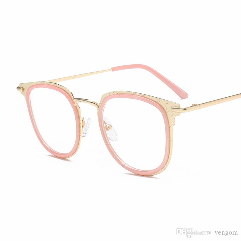 9fa3cd47c8aa New Fashion Newest Style Frame Plain Eyeglass Frame Optics Clear Reading  Glasses Trendy Goggles For Men Women Oculos Feminino VE08 John Lennon  Sunglasses ...