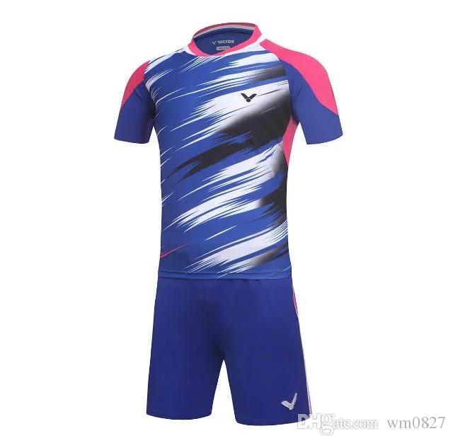 New victor Badminton shirts wear sets clothes Jerseys,breathable quick-drying material table tennis Jerseys sport clothing shorts+ T-shirt