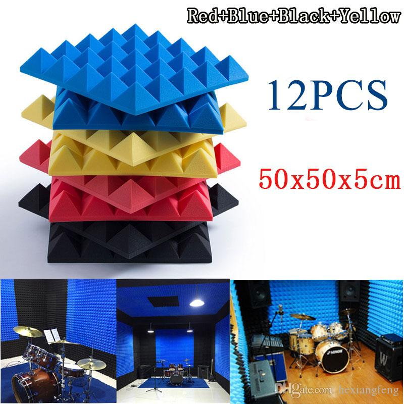 High Density Pyramid Acoustic Panels Foam Acoustic Tiles Studio Foam  Automobile Sound Insulation X From Hexiangfeng