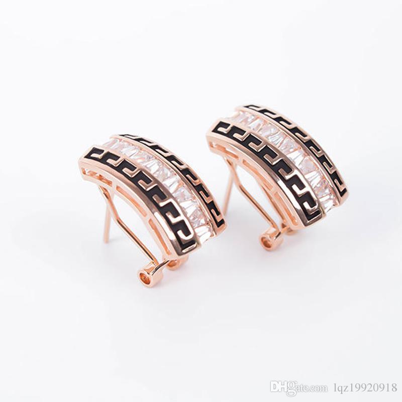 Завод прямых продаж Кристалл комплект ювелирных изделий мода elegent высокого класса оловянного сплава стекла камень проложили серьги для женщин