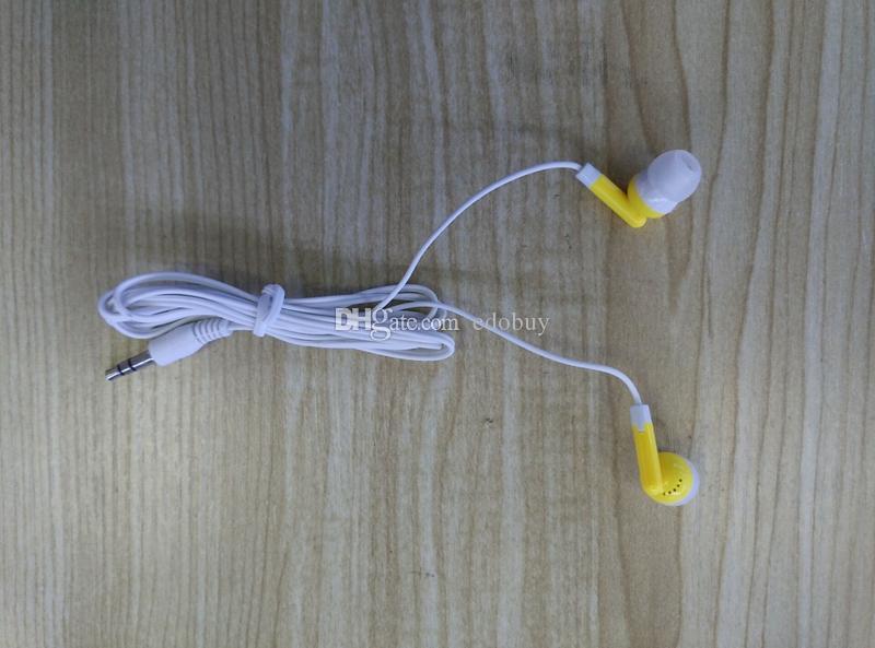Colorido fone de ouvido descartável mais barato novo no ouvido fone de ouvido para telefone moible 3.5mm earbud fone de ouvido para mp 3 4