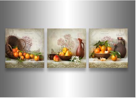 3 Pièce Mur Art Moderne Abstrait Grand pas cher automne Érable feuilles bois Peinture À L'huile Sur Toile décoration de la maison encadrée