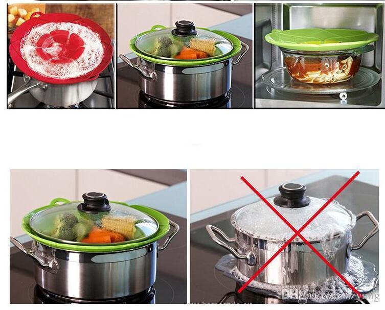 الغليان انسكاب سدادة غطاء سيليكون وعاء غطاء غطاء وعاء الطبخ الأواني إناء عموم تجهيزات المطابخ أجزاء اكسسوارات المطبخ