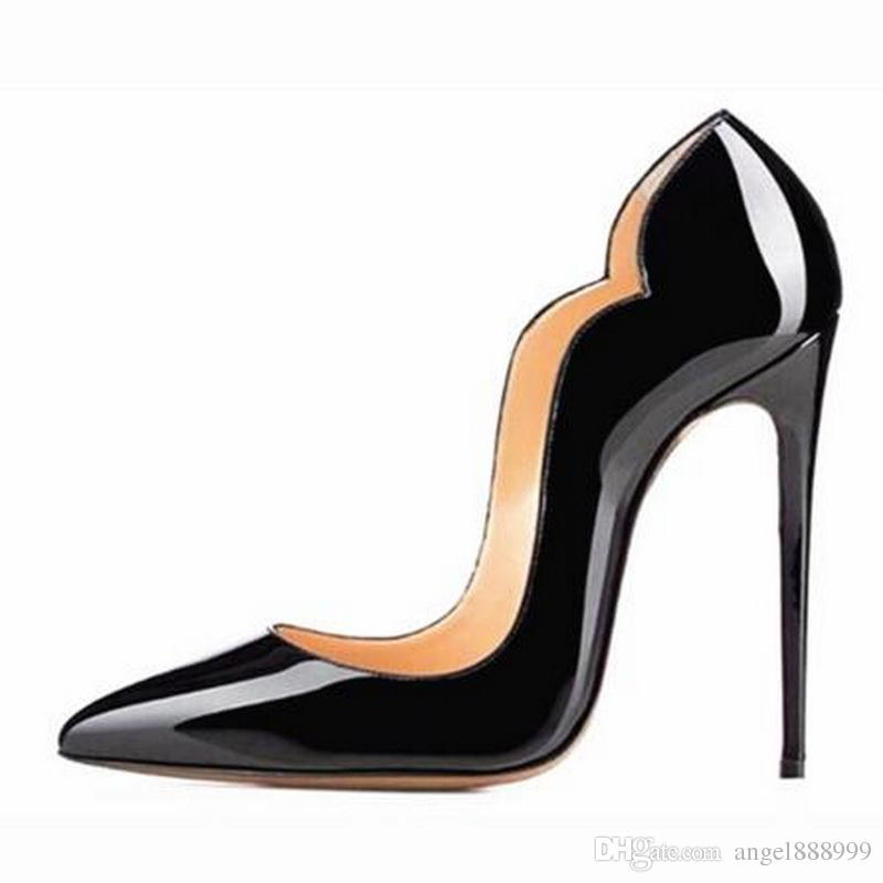 Fashion Women Pumps Womens Red Bottom Shoes Brand High Heels Stilettos  Pumps Shoes For Women Sexy Party Wedding Shoes Woman High Heels Wholesale Shoes  Black ... 330598598788